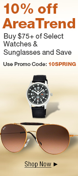 10% off $75+ on select watches and Sunglasses with promo code