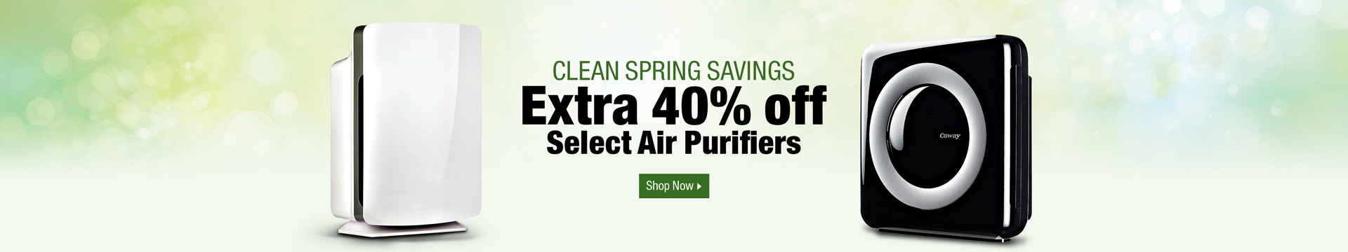 Extra 40% off select air purifiers