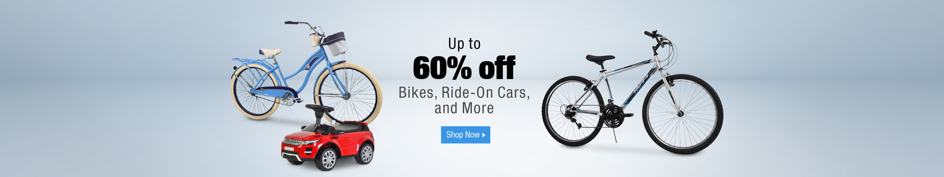 Up to 60% off Bikes, Ride-On Cars and More
