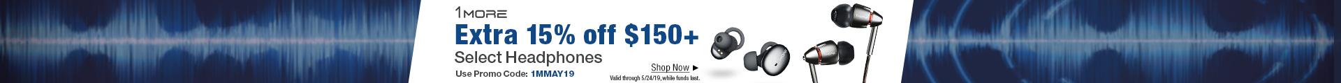 Extra 15% off $150+ select headphones