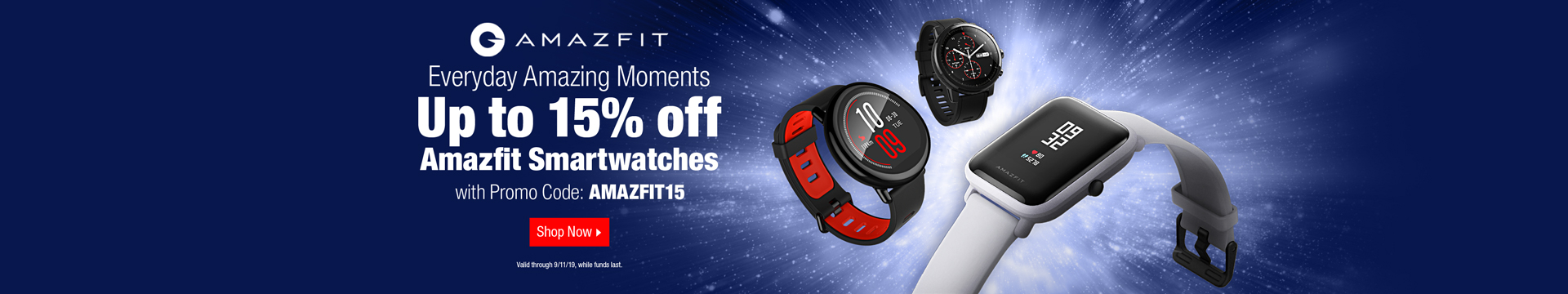 Up to 15% off Amazfit