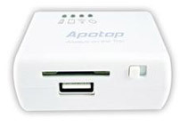 Apotop DW09 Wireless Reader supports SD card / USB pen drive