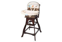 Carter's Animal Parade Classic Comfort Wood High Chair