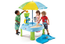 Step2 Splash & Scoop Bay Sand and Water Table with Umbrella