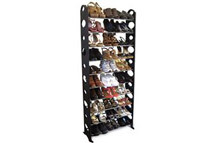 Ten-Tier Shoe Rack with Capacity for Thirty Pairs!