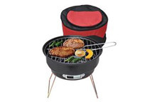 New Black Portable Grill 2 in 1 Cooler Bag & Barbecue Grill BBQ Grill Picnic Time Outdoor