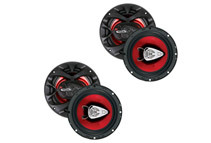 2 Pairs of Boss CH6530 6.5 3-Way 300W Car Audio Speakers 600 Watt 6 1/2