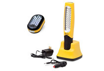 Eastwood 48 LED Rechargable Work Light and 24+3 LED Battery Operated Flashlight
