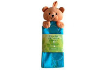 Plush Bear Growth Chart with Name and Photo Sleeves