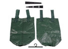4-pc Hanging Veggie Bag Kit + 2-pc Watering Stakes