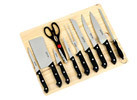 11-pc Knife Set with Cutting Board