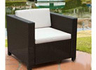 Christopher Knight Outdoor Club Chair with Ivory Cushions