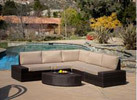 Large, outdoor wicker sofa set