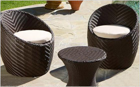 High end chic outdoor furniture from Christopher Knight