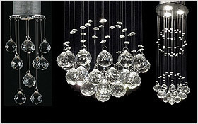 Add drama with opulent crystal and iron chaneliers