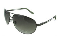 Kenneth Cole Reaction Shiny Gunmetal Classic Aviator Sunglasses