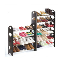 Convertible Shoe Rack Tower w/Zippered Cover (30 pair)