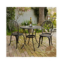 Christopher Knight Home Angeles 3-Piece Bistro Set w/ Ice Bucket