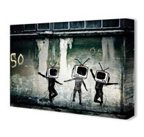 Banksy Canvas Art Prints (Various Prints / Sizes)