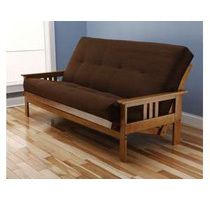Futon Sofa Beds w/ Frame and Innerspring Mattress (Various Styles)