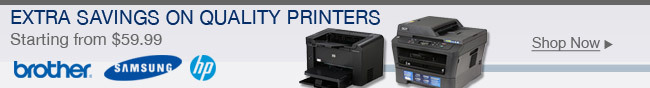 Extra Savings On Quality Printers
