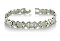 7.5inch Stainless Steel Hugs and Kisses Bracelet