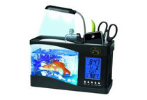 USB Powered Fish Tank Aquarium Desk Organizer (2 Colors)