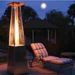 Garden Radiance Dancing Flames Pyramid Outdoor Patio Heater