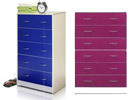 Furinno Click n Easy Tool-Free 5-Drawer Chest (2 Colors)