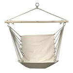 Outdoor/ / Indoor Natural Cotton Canvas Rope Hammock Swing Chair