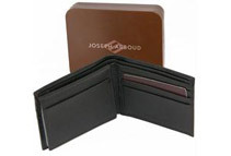 Mens Pebble Grain Leather Wallet by JOSEPH ABBOUD