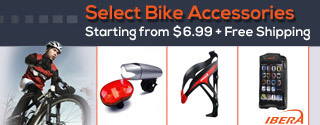 Select Bike Accessories Starting from $6.99 plus Free Shipping