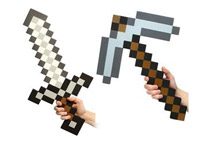 Minecraft Foam Sword & Pickaxe Set