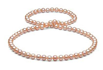Freshwater Pearl Necklace - 7.5-8mm, AA+ Quality, 26inch (2 Colors)
