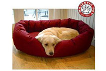 Majestic Pet Large 40inch Bagel Dog Bed (6 Colors)