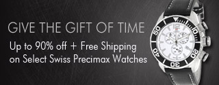 Up to 90% off plus Free Shipping on Select Swiss Precimax Watches