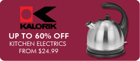 Up to 60% Off Kitchen Electrics From $24.99