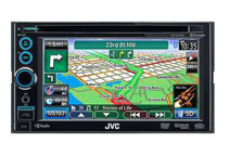 Refurbished: JVC 6.1inch In-Dash Double DIN Bluetooth Touchscreen Receiver w/ Navigation