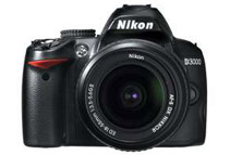 Nikon D3000 10.2 MP Digital SLR Bundle with 18-55mm f/3.5-5.6G ED II AF-S DX Lens