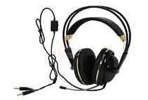 SteelSeries Siberia V2 3.5mm Connector Circumaural Gaming Headset, Black/Gold