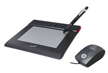 Genius EasyPen M406 Multimedia Tablet + Traveler 355 Touch Sensor Laser mouse