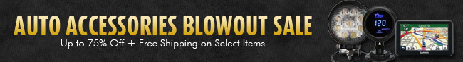 Auto Accessories Blowout Sale