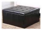 Abbyson Living Broadway Bonded Leather Storage Ottoman