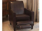 Christopher Knight Home Leather Recliner Club Chair, Brown