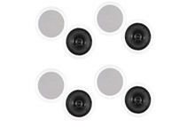 Theater Solutions 6.5inch In-Ceiling Surround Sound Speakers (4 Pairs)