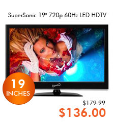 SuperSonic 19inch 720p LED HDTV SC-1911