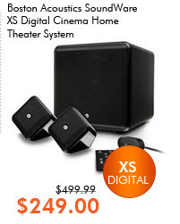 Boston Acoustics SoundWare XS Digital Cinema Home Theater System (Black)