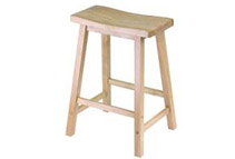 Winsome 24-Inch Solid Beechwood Saddle Seat Stool