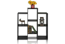 Furinno Staggered 6-Cube Bookcase Shelf