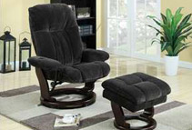 Swivel Recliner Chair with Ottoman (2 Colors)